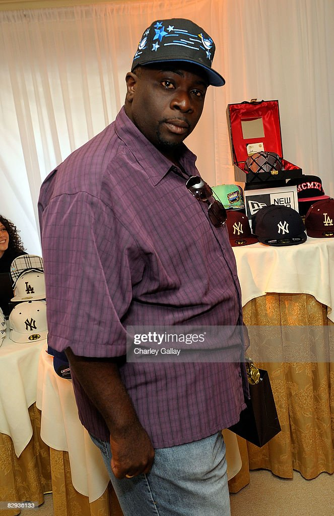 Actor Gary Anthony Williams poses with the New Era Cap display during the HBO Luxury Lounge in honor of the 60th annual Primetime Emmy Awards featuring the In Style diamond suite, held at the Four Seasons Hotel on September 21, 2008 in Beverly Hills, California.