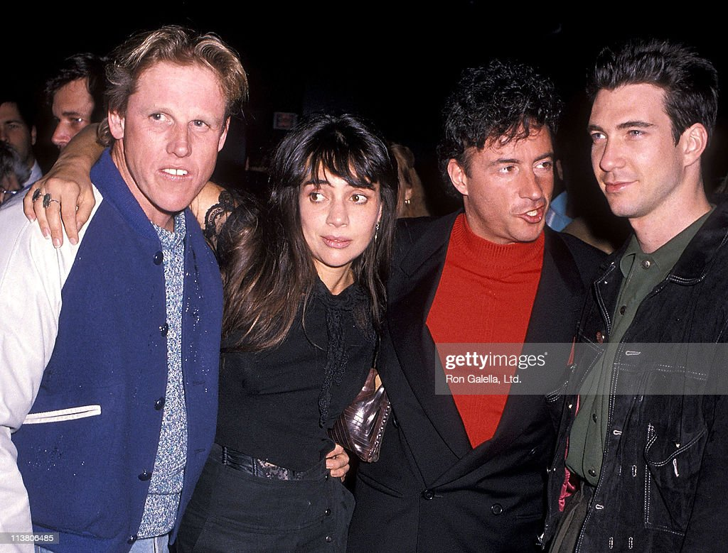 Actor Gary Busey, actress Julie Carmen, actor Ray Sharkey and actor Dylan McDermott attend the Screening of the Showtime Original Movie 'The Neon Empire' on December 1, 1989 at the DGA Theatre in West Hollywood, California.