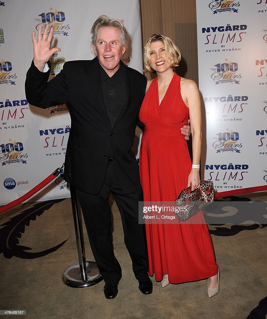 Actor <a gi-track='captionPersonalityLinkClicked' href=/galleries/search?phrase=Gary+Busey&family=editorial&specificpeople=206115 ng-click='$event.stopPropagation()'>Gary Busey</a> arrives for Norby Walters' 24nd Annual Night Of 100 Stars Oscar Viewing Gala held at Beverly Hills Hotel on March 2, 2014 in Beverly Hills, California.