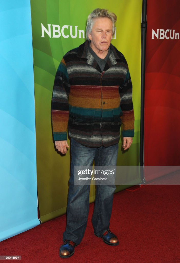Actor Gary Busey attends the NBC Winter TCA Press Tour held at the Langham Huntington Hotel and Spa on January 6, 2013 in Pasadena, California.