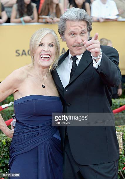 Actor Gary Cole and Teddi Siddall attend the 21st Annual Screen Actors Guild Awards at The Shrine Auditorium on January 25 2015 in Los Angeles...