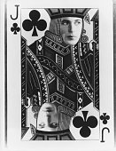Actor Gary Cooper's face on a jack of clubs playing card