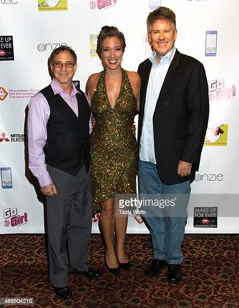 Actor Gary Klavans Danielle LovellWalsh and Producer/Director/Writer Graeme Finlayson pose for portrait at Premiere Party For 'Liv Out Loud' at Akbar...