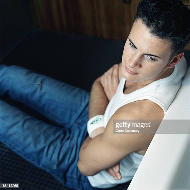 Actor Gary Lucy poses for a portrait shoot in London for FHM magazine on March 13 2001