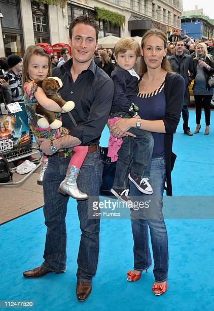 Actor Gary Lucy with his wife India daughter Natasha and her friend Sonny attend the 'Race To Witch Mountain' film premiere at the Odeon West End on...