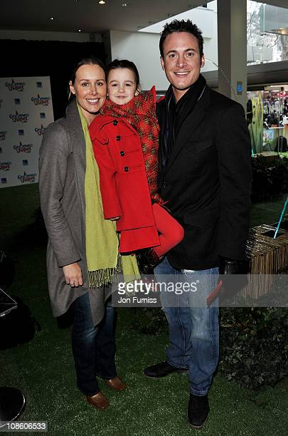 Actor Gary Lucy with wife Natasha Gray and daughter India Jasmine at the 'Gnomeo Juliet' premiere at Odeon Leicester Square on January 30 2011 in...