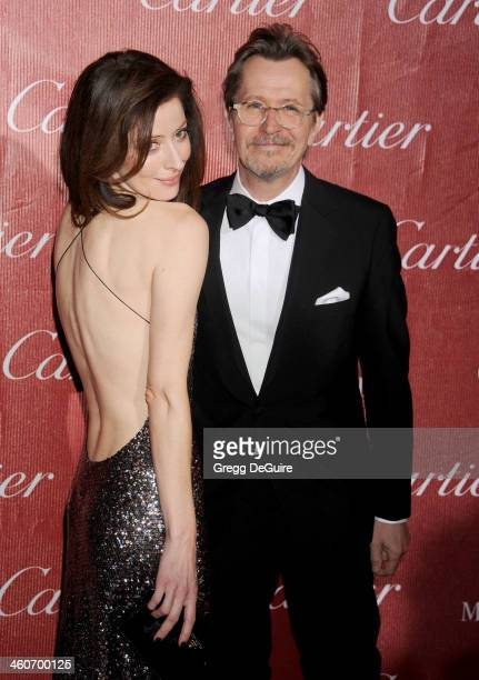 Actor Gary Oldman and wife Alexandra Edenborough arrive at the 25th Annual Palm Springs International Film Festival Awards Gala at Palm Springs...