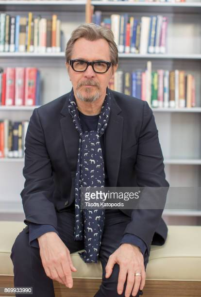 Actor Gary Oldman at Churchill Library Meet and Greet Darkest Hour Tour at National Churchill Library and Center on November 3 2017 in Washington DC