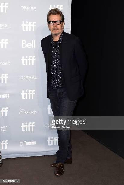 Actor Gary Oldman attends 'Darkest Hour' press conference during 2017 Toronto International Film Festival at TIFF Bell Lightbox on September 11 2017...