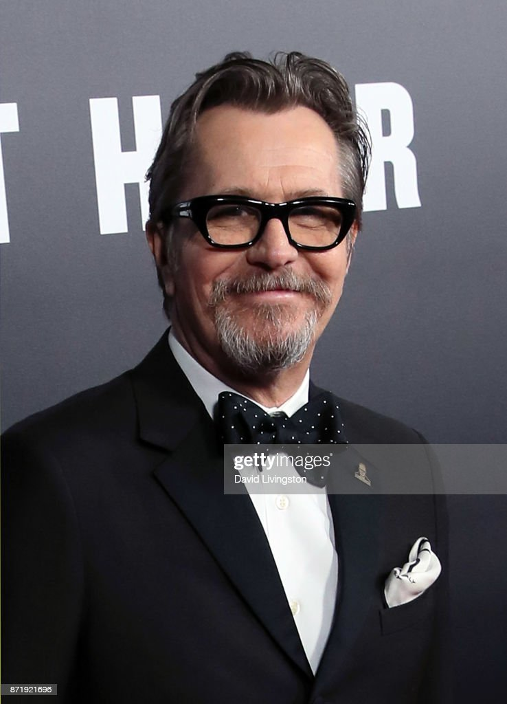 Actor Gary Oldman attends the premiere of Focus Features' 'Darkest Hour' at the Samuel Goldwyn Theater on November 8, 2017 in Beverly Hills, California.
