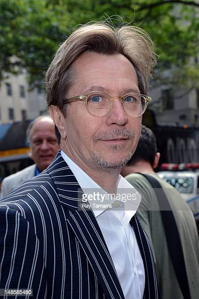 Actor Gary Oldman enters the 'Today Show' taping at the NBC Rockefeller Center Studios on July 18 2012 in New York City