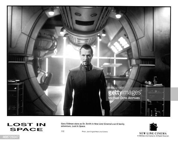 Actor Gary Oldman on set of the New Line Cinema movie ' Lost in Space ' circa 1998