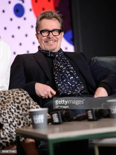 Actor Gary Oldman speaks onstage at 'Darkest Hour' press conference during 2017 Toronto International Film Festival at TIFF Bell Lightbox on...