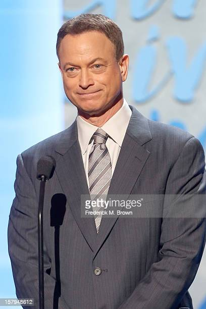Actor Gary Sinise onstage at the American Giving Awards presented by Chase held at the Pasadena Civic Auditorium on December 7 2012 in Pasadena...