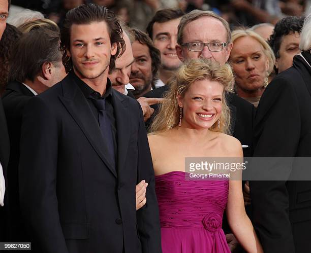 Actor Gaspard Ulliel and actress Melanie Thierry attend the 'The Princess of Montpensier' Premiere held at the Palais des Festivals during the 63rd...