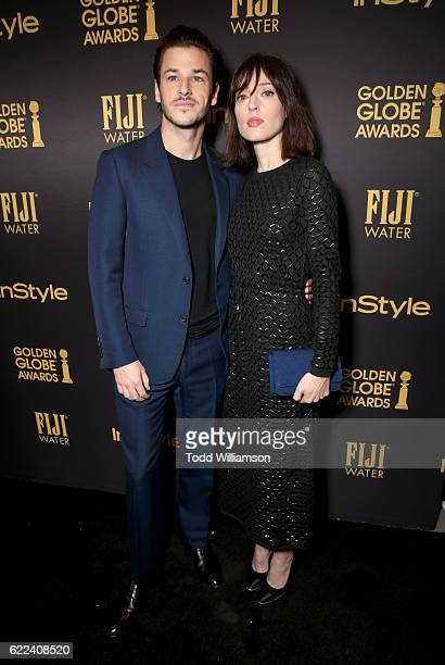 Actor Gaspard Ulliel and guest attends the Hollywood Foreign Press Association and InStyles Celebration of the 2017 Golden Globe Awards Season on...
