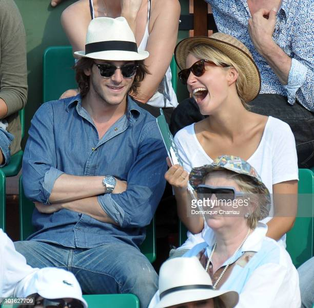 Actor Gaspard Ulliel and his girlfriend Jordane Crantelle sighting at the french open on June 3 2010 in Paris France