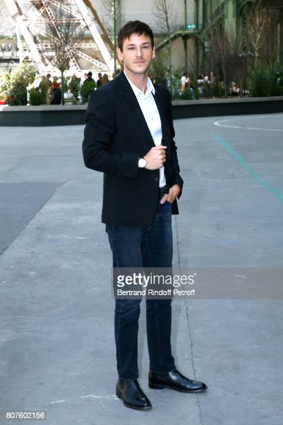 Actor Gaspard Ulliel attends the Chanel Haute Couture Fall/Winter 20172018 show as part of Haute Couture Paris Fashion Week on July 4 2017 in Paris...