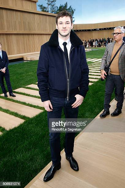 Actor Gaspard Ulliel attends the Chanel Spring Summer 2016 show as part of Paris Fashion Week on January 26 2016 in Paris France