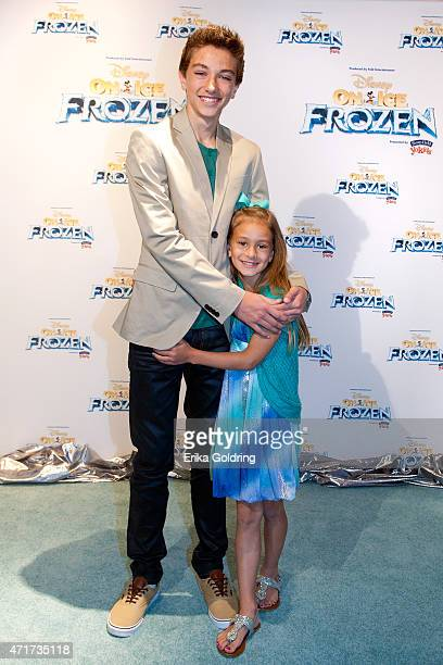 Actor Gavin Casalegno and Ashlyn Casalegno attend Disney On Ice presents Frozen Presented by Stonyfield YoKids Organic Yougurt at UNO Lakefront Arena...