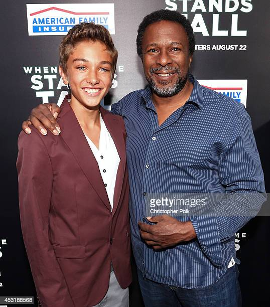 Actor Gavin Casalegno and director Thomas Carter attend the premiere of Tri Star Pictures' 'When The Game Stands Tall' at ArcLight Cinemas on August...