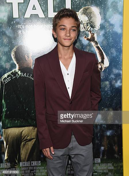 Actor Gavin Casalegno arrives at the premire of Tri Star Pictures' ' When The Game Stands Tall' at the ArcLight Cinemas on August 4 2014 in Hollywood...