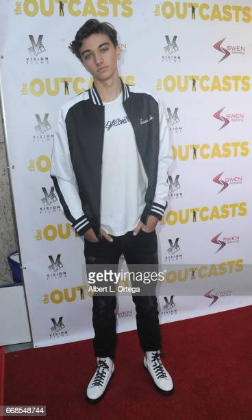 Actor Gavin Casalegno arrives for the Premiere Of Swen Group's 'The Outcasts' held at Landmark Regent on April 13 2017 in Los Angeles California