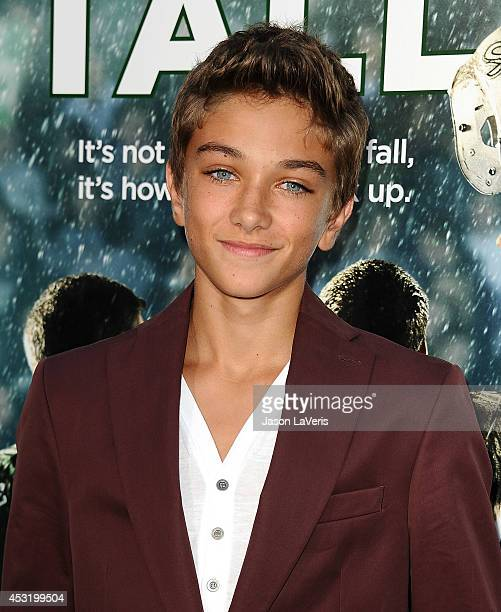 Actor Gavin Casalegno attends the premiere of 'When The Game Stands Tall' at ArcLight Hollywood on August 4 2014 in Hollywood California
