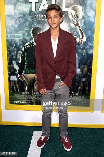 Actor Gavin Casalegno attends the 'When The Game Stands Tall' Los Angeles premiere held at the ArcLight Hollywood on August 4 2014 in Hollywood...