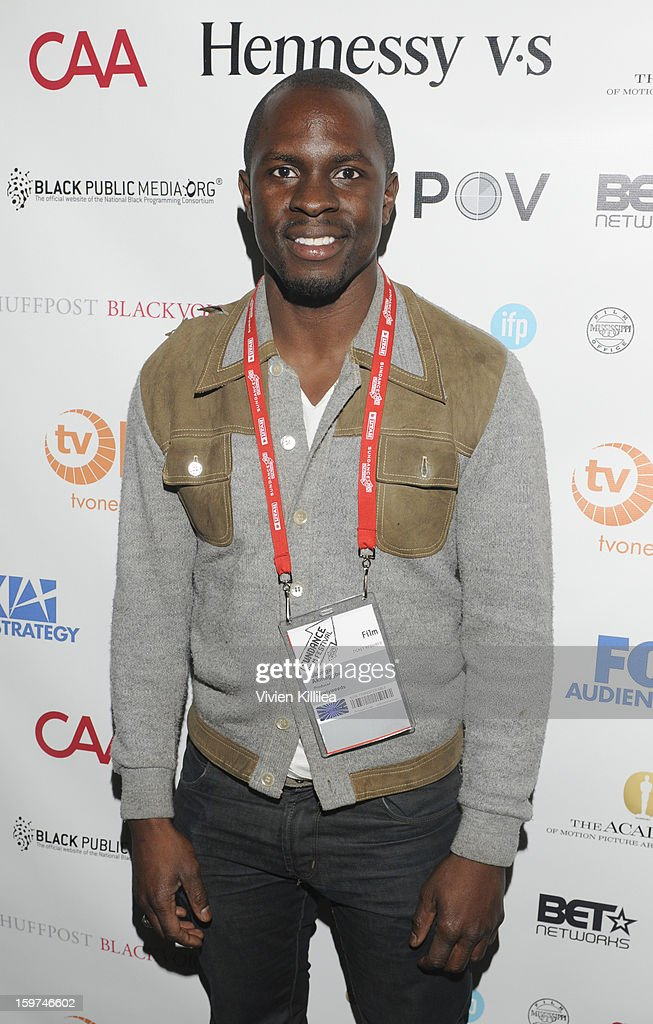 Actor <a gi-track='captionPersonalityLinkClicked' href=/galleries/search?phrase=Gbenga+Akinnagbe&family=editorial&specificpeople=2293588 ng-click='$event.stopPropagation()'>Gbenga Akinnagbe</a> attends the Academy Conversation With Will Packer At Sundance Film Festival - 2013 Park City on January 19, 2013 in Park City, Utah.