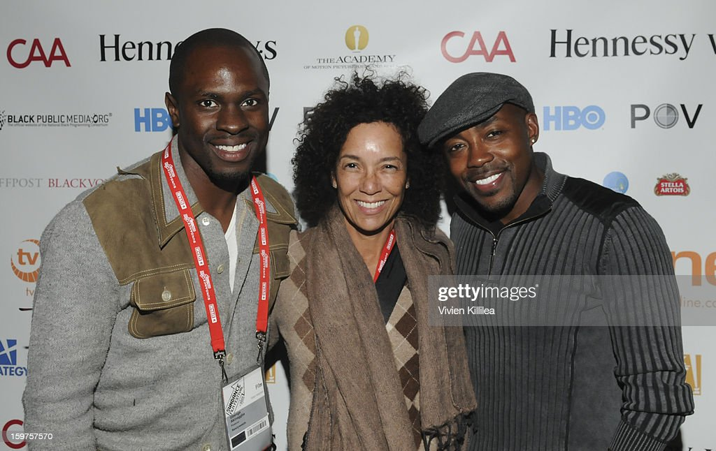 Actor <a gi-track='captionPersonalityLinkClicked' href=/galleries/search?phrase=Gbenga+Akinnagbe&family=editorial&specificpeople=2293588 ng-click='$event.stopPropagation()'>Gbenga Akinnagbe</a>, director of the Los Angeles Film Festival Stephanie Allain and producer Will Packer attend the Academy Conversation With Will Packer At Sundance Film Festival - 2013 Park City on January 19, 2013 in Park City, Utah.