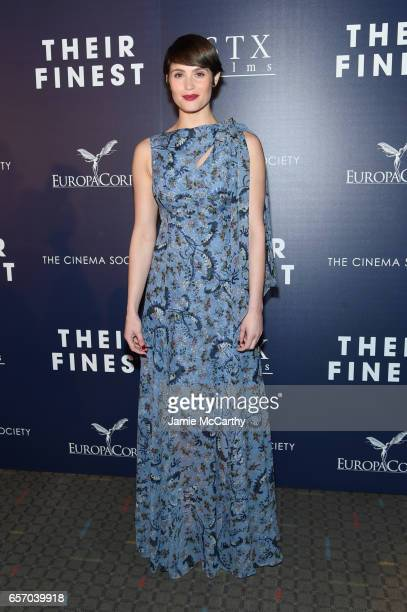 Actor Gemma Arterton attends the Premiere of 'Their Finest' hosted by STXfilms and EuropaCorp with the Cinema Society at SVA Theatre on March 23 2017...