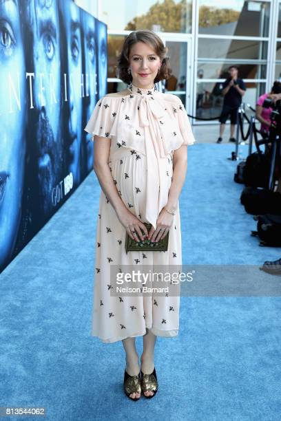 Actor Gemma Whelan attends the premiere of HBO's 'Game Of Thrones' season 7 at Walt Disney Concert Hall on July 12 2017 in Los Angeles California