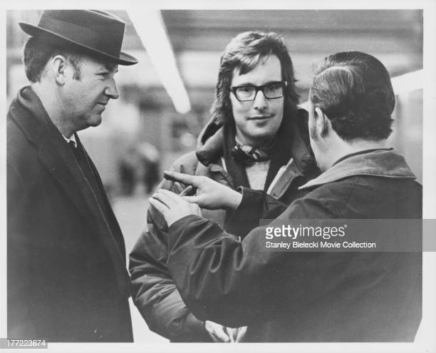Actor Gene Hackman and director William Friedkin on the set of the movie 'The French Connection' 1971