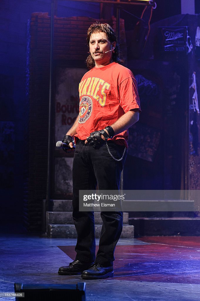 Actor Genson Blimline attends the 'Rock Of Ages' on Broadway Military Tribute Night at Helen Hayes Theatre on October 2, 2012 in New York City.