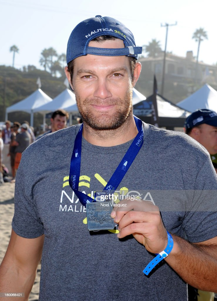 Actor <a gi-track='captionPersonalityLinkClicked' href=/galleries/search?phrase=Geoff+Stults&family=editorial&specificpeople=228938 ng-click='$event.stopPropagation()'>Geoff Stults</a> attends Nautica Malibu Triathlon presented by Equinox on September 8, 2013 in Malibu, California.