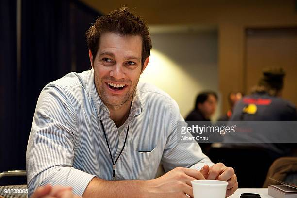 Actor Geoff Stults attends the 'Happy Town' panel at the 2010 WonderCon Day 2 at Moscone Center South on April 3 2010 in San Francisco California