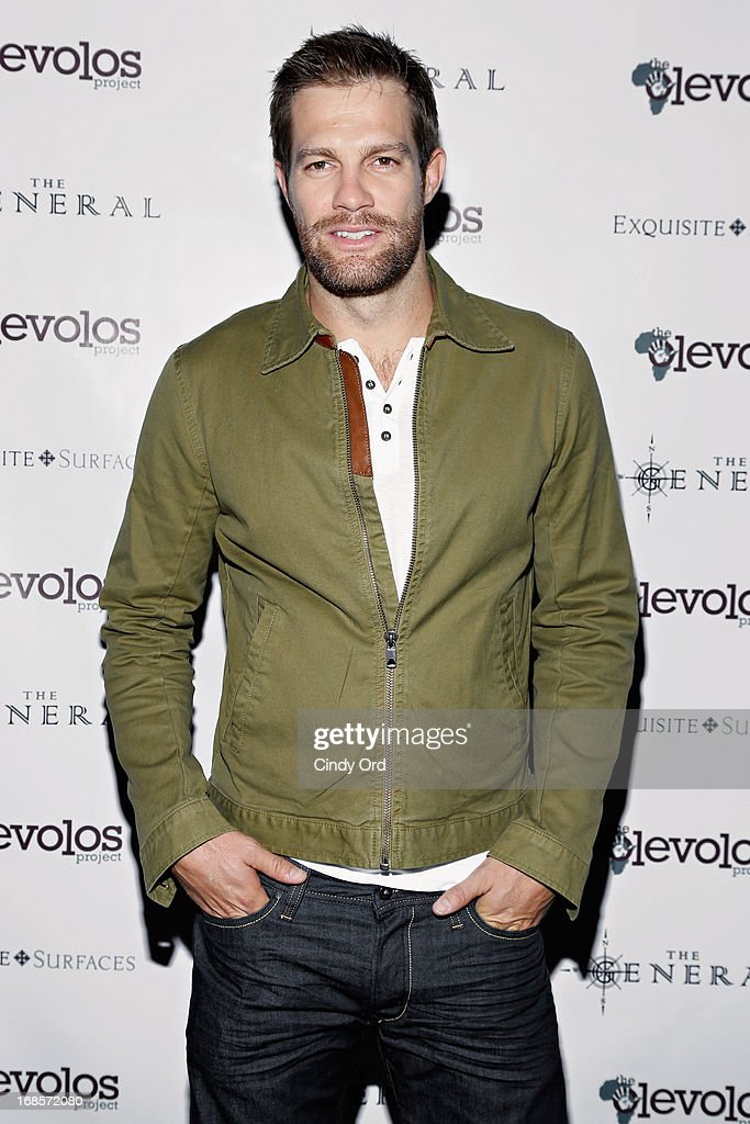 Actor <a gi-track='captionPersonalityLinkClicked' href=/galleries/search?phrase=Geoff+Stults&family=editorial&specificpeople=228938 ng-click='$event.stopPropagation()'>Geoff Stults</a> attends The Second Annual Olevolos Project Fundraiser at The General on May 11, 2013 in New York City.