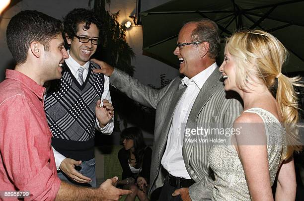 Actor Geoffrey Arend writer Michael Weber actor Kelsey Grammer and Camille Grammer attends an after party following a screening of '500 Days Of...