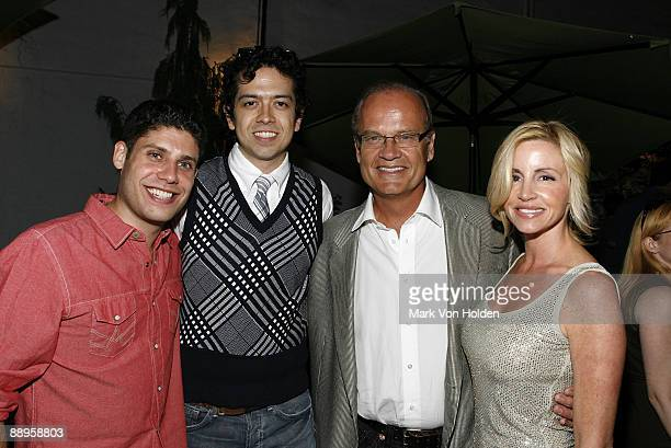 Actor Geoffrey Arend writer Michael Weber actor Kelsey Grammer and Camille Grammer attend an after party following a screening of '500 Days Of...