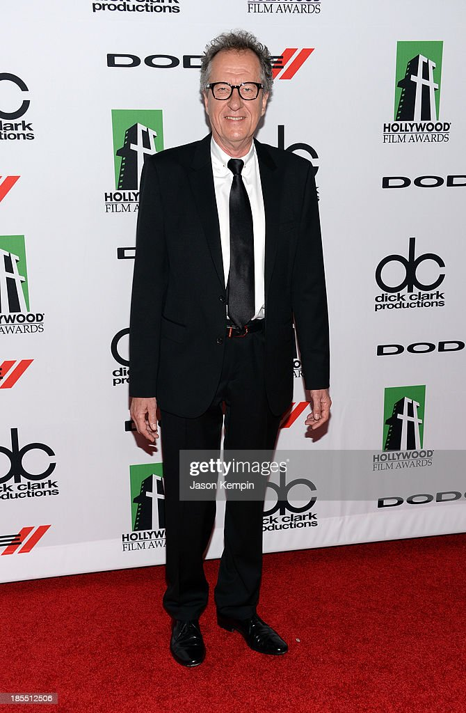 Actor <a gi-track='captionPersonalityLinkClicked' href=/galleries/search?phrase=Geoffrey+Rush&family=editorial&specificpeople=201849 ng-click='$event.stopPropagation()'>Geoffrey Rush</a> arrives at the 17th annual Hollywood Film Awards at The Beverly Hilton Hotel on October 21, 2013 in Beverly Hills, California.