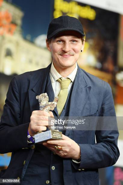 Actor Georg Friedrich winner of the Silver Bear for Best Actor attends the award winners press conference during the 67th Berlinale International...
