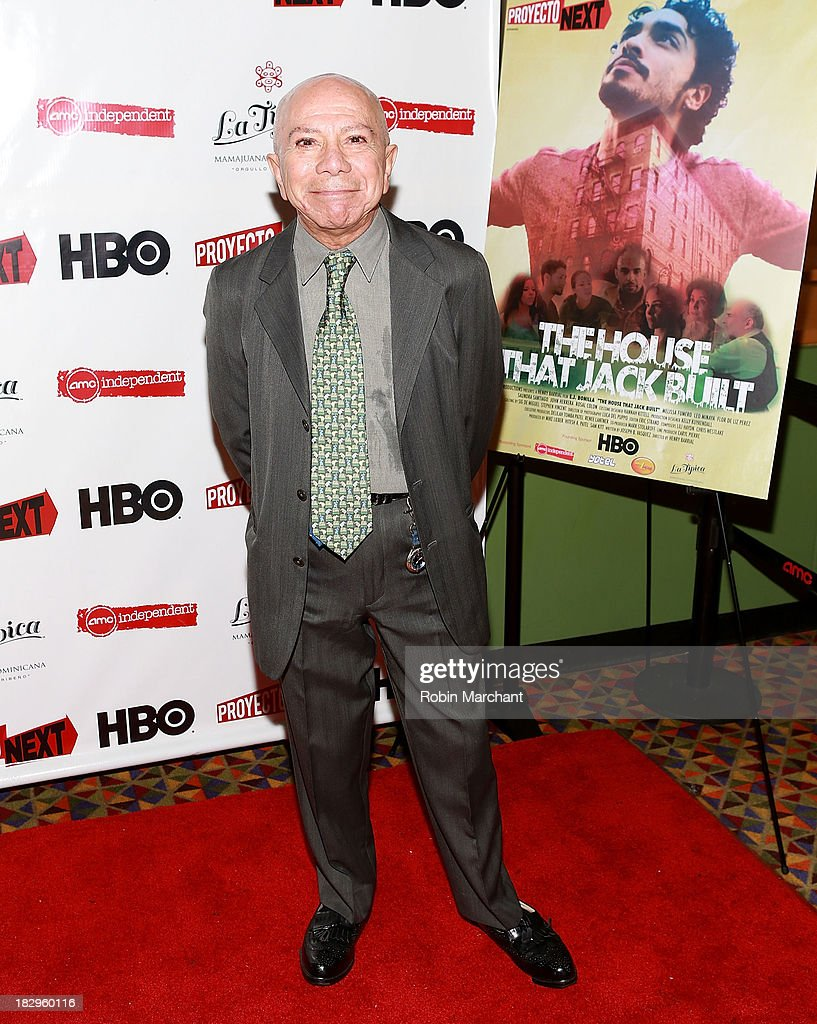 Actor George Bass attends the premiere of the 'The House That Jack Built' at AMC Empire 25 theater on October 2, 2013 in New York City.