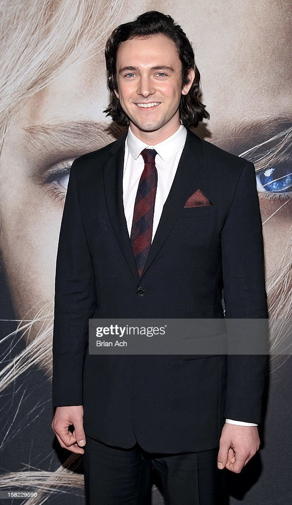Actor George Blagden attends 'Les Miserables' New York premiere at Ziegfeld Theater on December 10, 2012 in New York City.