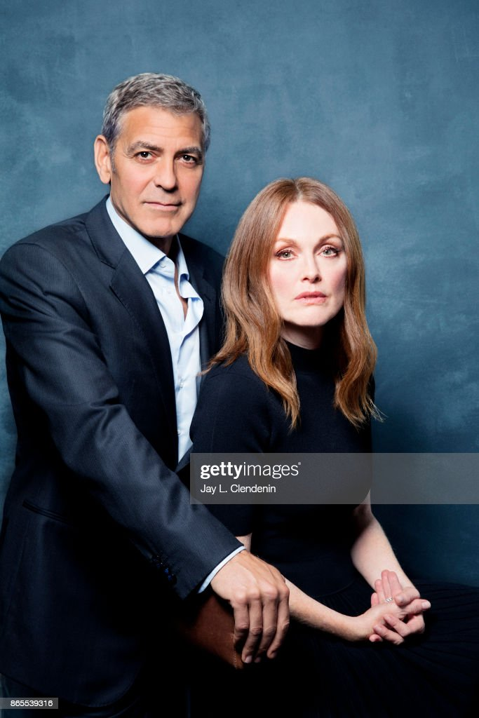 Actor George Clooney and actress Julianne Moore, from the film 'Suburbicon,' poses for a portrait at the 2017 Toronto International Film Festival for Los Angeles Times on September 10, 2017 in Toronto, Ontario.