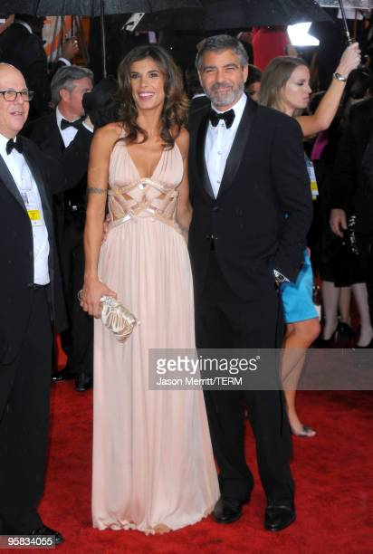 Actor George Clooney and Elisabetta Canalis arrive at the 67th Annual Golden Globe Awards held at The Beverly Hilton Hotel on January 17 2010 in...