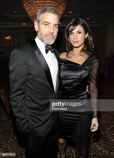 Actor George Clooney and Elisabetta Canalis arrive at the UNICEF Ball held at the Beverly Wilshire Hotel on December 10 2009 in Beverly Hills...
