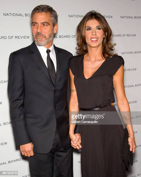 Actor George Clooney and Elisabetta Canalis attend the 2010 National Board of Review Awards Gala at Cipriani 42nd Street on January 12 2010 in New...