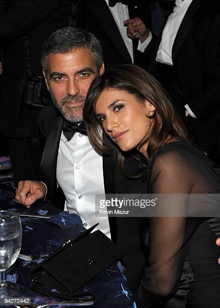 Actor George Clooney and Elisabetta Canalis attend the UNICEF Ball held at the Beverly Wilshire Hotel on December 10 2009 in Beverly Hills California