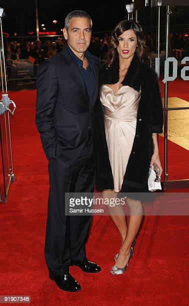 Actor George Clooney and girlfriend Elisabetta Canalis arrive for the premiere of 'The Men Who Stare At Goats' during the Times BFI 53rd London Film...